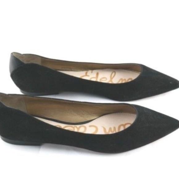 08b5a0c8337f Sam Edelman Shoes - Sam Edelman Rae Black Suede Pointy Toe Flats